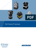 Thomson True Planetary Gearheads Catalog
