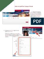 Cómo editar mi perfil en Campus Virtual