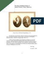 The Henry Sandkamp Family of Holdingford, Stearns County, Minnesota