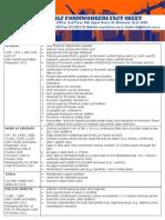 2013 Formworker Fact Sheet