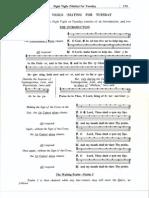 Medieval Monastic Psalter, Volume 1, Tuesday Divine Office
