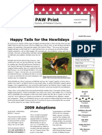 Winter 09 Newsletter