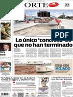 Periódico Norte edición del día 23 de agosto de 2014