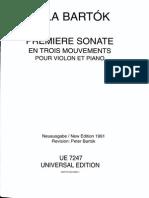 Bartok - SZ 75 - Sonata for Violin and Piano No. 1 (Op 21) - Piano
