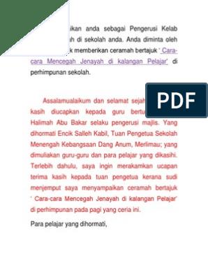 Doc Pengucapan Awam Mohd Rahmat Academia Edu