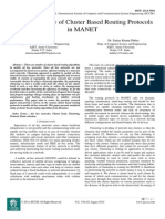 Analytical Study of Cluster Based Routing Protocols in MANET