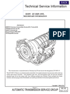 ZF 5HP19 Technical Service Information | Automatic