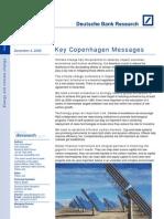 Deutsche Bank - Key Copenhagen Messages - Dec 4 2009