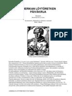 Amerikan löytöretken päiväkirja by Columbus, Christopher, 1451-1506