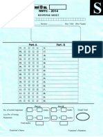 Response Sheet SUB JUNIOR