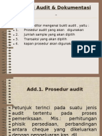 Bukti Audit & Dokumentasi