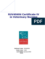 RUV40404 Certificate IV in Veterinary Nursing
