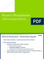 Reserve Manipulation Examples