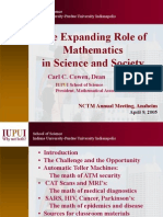 The Expanding Role of Mathematics in Science and Society