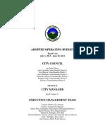 COS 2013-2014 Operating Budget