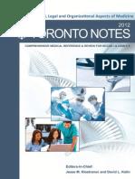 Cover Toronto Notes 2012