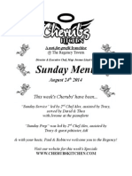 Sunday Lunch Menu 24082014