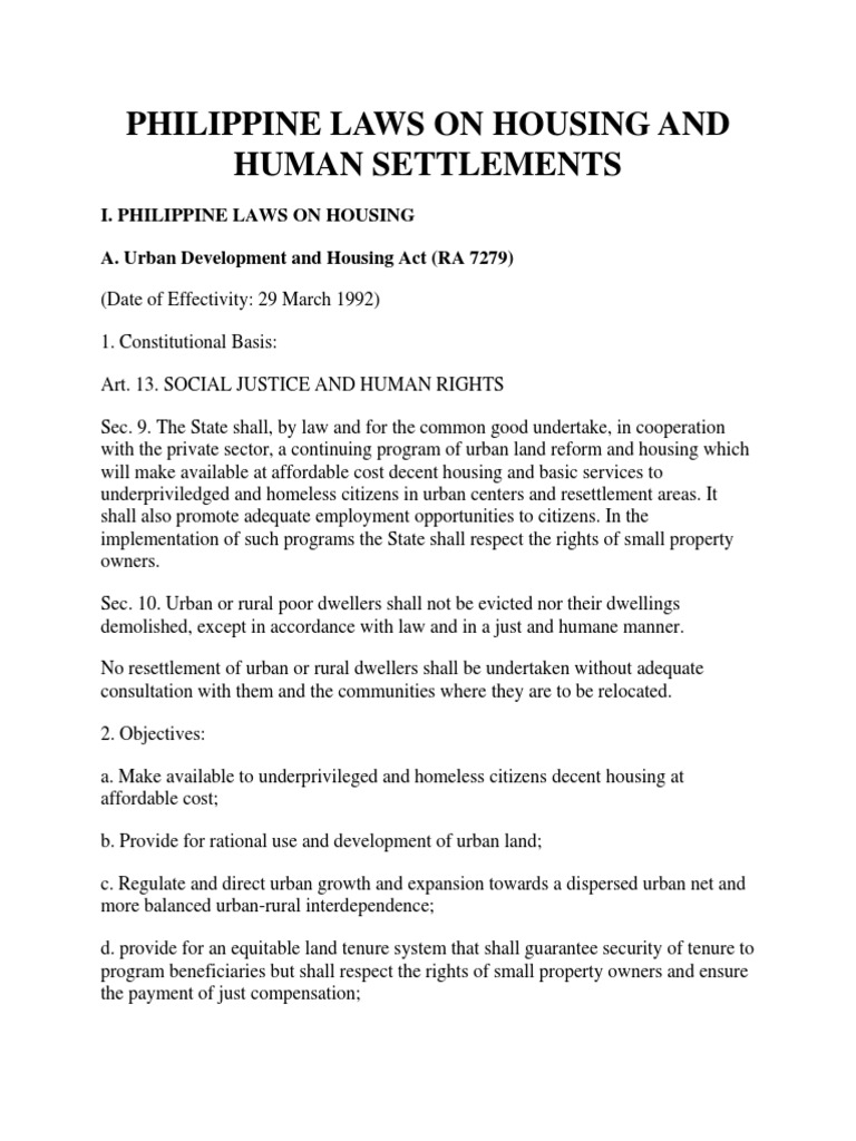 Urban Development and Housing Act of 1992 - Article 5 Report ...