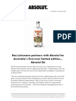 Global Press Release Absolut Oz