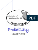 BC Principles of Math 12 - Probability Practice Exam