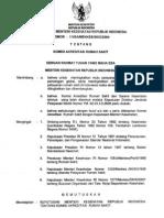 Permenkes No. 1165A/MENKES/SK/X/2004 tentang Komisi Akreditasi Rumah Sakit