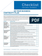 Checklist Establishing Your Business Continuity Plan Proof 1