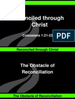 Reconciled Through Christ