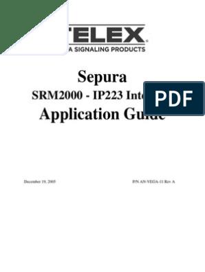 Sepura PEI Interface Manual | Electrical Connector | Ip Address