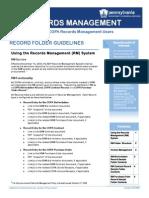SAP Record Management Folder Guidelines