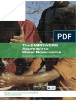 EMPOWERS Approach to Water Governance Guidelines, Methods, and Tools