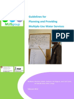 Guidelines for Planning and Providing Multiple-Use Water Services