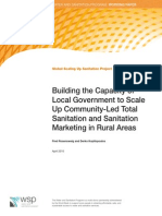 Building the Capacity of Local Government to Scale-Up Community-Led Total Sanitation and Sanitation Marketing in Rural Areas