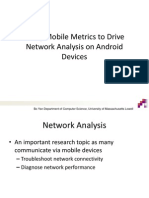 Mobile Network Data Analysis on Android Devices