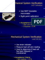 Mechanical System Verification