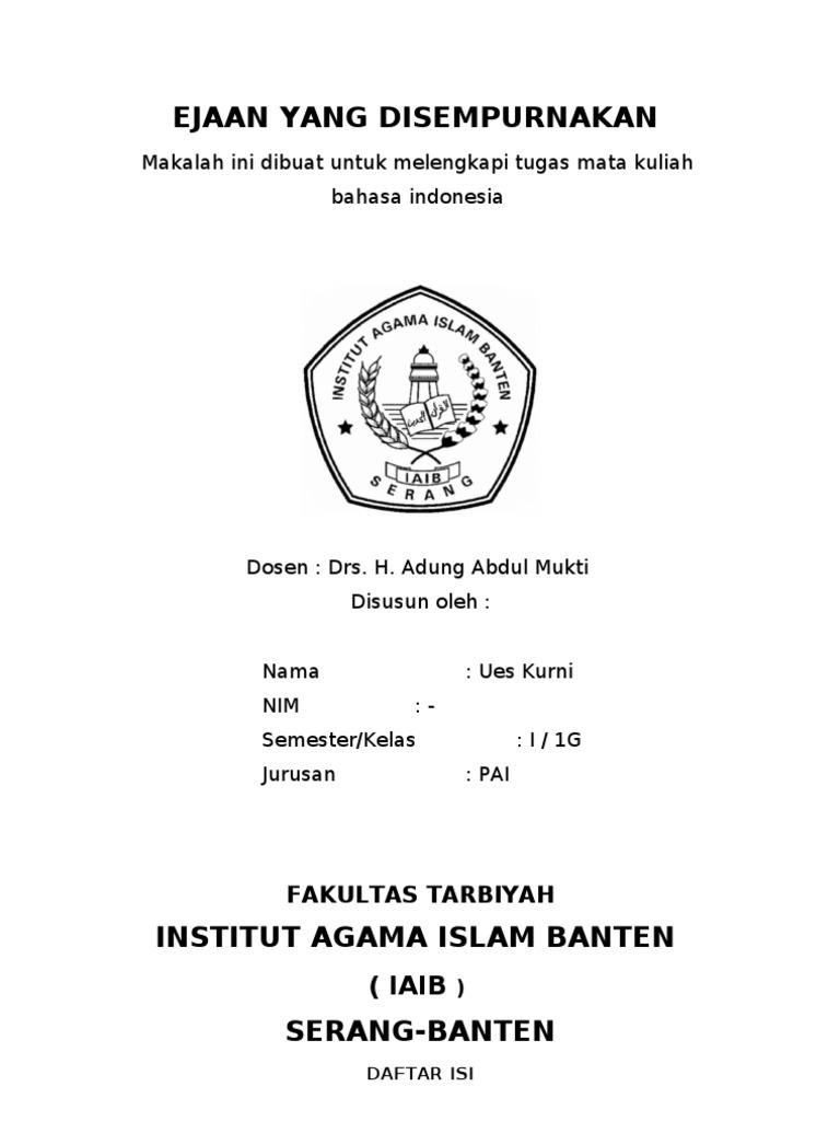 Makalah Bahasa Indonesia Eyd