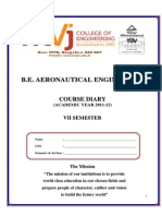 Aeronautical Engineering Course Diary