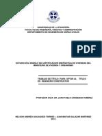 Estudio del modelo de certificación energética de viviendas del ministerio de vivienda y urbanismo