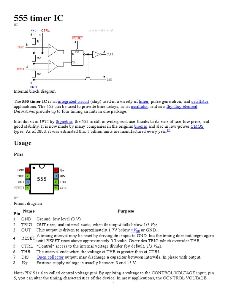 555 Timer Ic Manufactured Goods Electrical Engineering Bistable Schematic