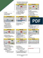 2014-2015 calendar approved 2-25