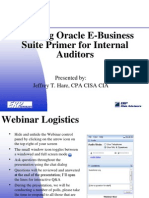 Auditing Oracle E-Business Suite Primer for Internal Auditors