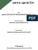 English MaarifulQuran MuftiShafiUsmaniRA Vol 8 IntroAndPage 0 960 End