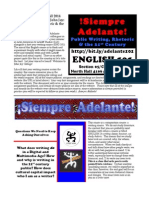 English 101 for Adelante Leadership Program