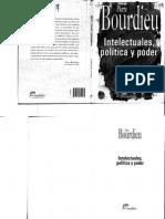 Bourdieu, P Intelectuales politica y poder.pdf