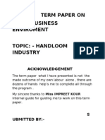 Term Paper On business inviroment