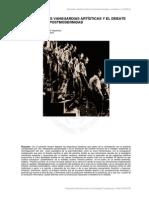 LAS CRISIS DE LAS VANGUARDIAS ARTÍSTICAS Y EL  DEBATE MODERNIDAD - POSTMODERNIDAD.pdf