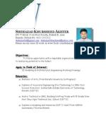 Shehazad AutoCAD 3D Max Modeling CV