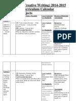 curriculumcalendarormap 2014-2015 art and creative writing
