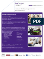 3 Term London FoundationCampus Accommodation Guide 2014-15