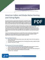 American Indian and Alaska Native Hunting and Fishing Rights