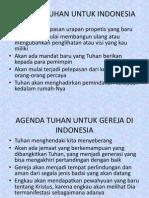Agenda Tuhan Untuk Indonesia
